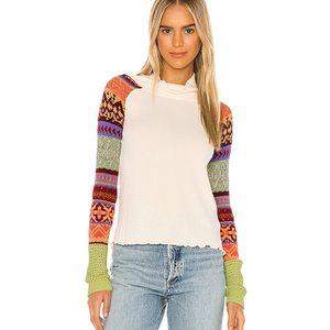 NWT Free People Thermal Prism Turtleneck Sweater